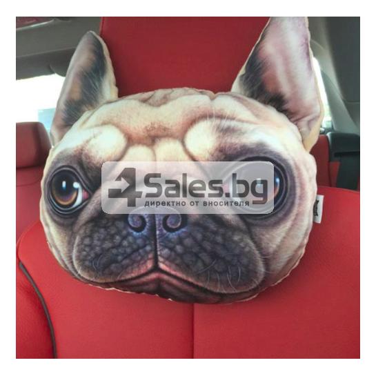 Възглавница за автомобил с щампа куче