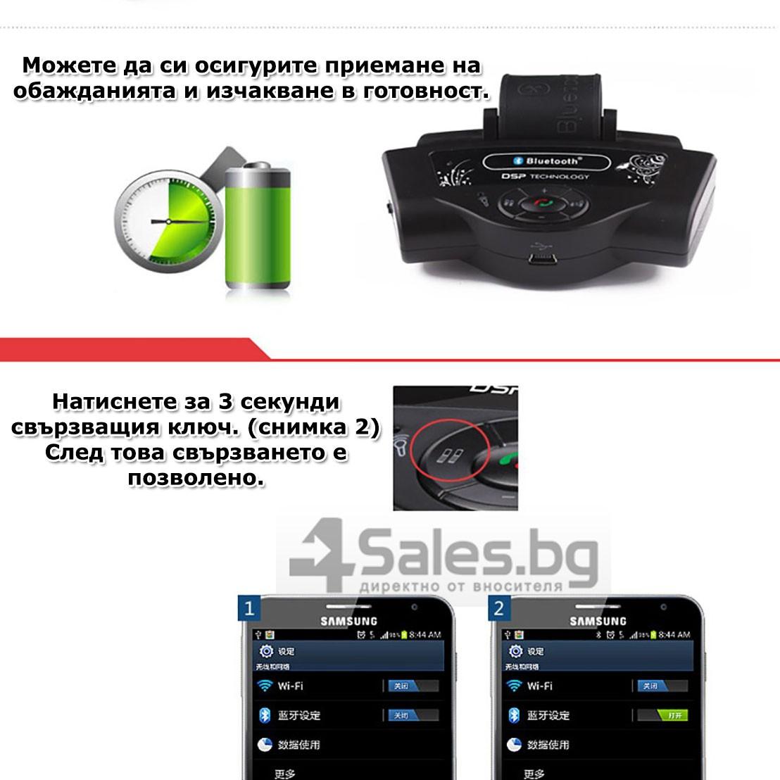 Bluetooth handsfree свободни ръце за волан на автомобил с високоговорител HF1 17