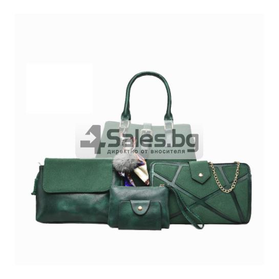 Сет от пет части чанти велур кожа BAG65