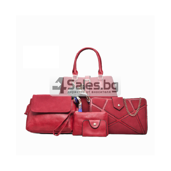 Сет от пет части чанти велур кожа BAG65 2