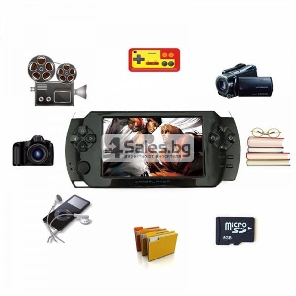 Конзола за игри с 8 GB памет, 4,3 инча дисплей PSP21 6