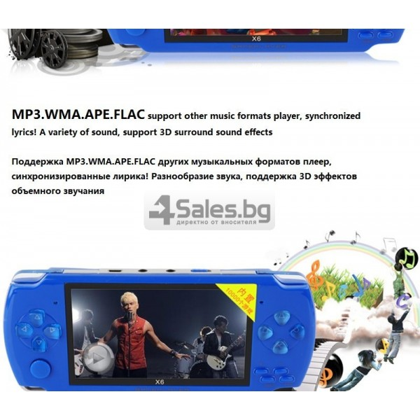 Игрова конзола X6 с 3 MPX камера, издържлива батерия и много функции PSP1 4