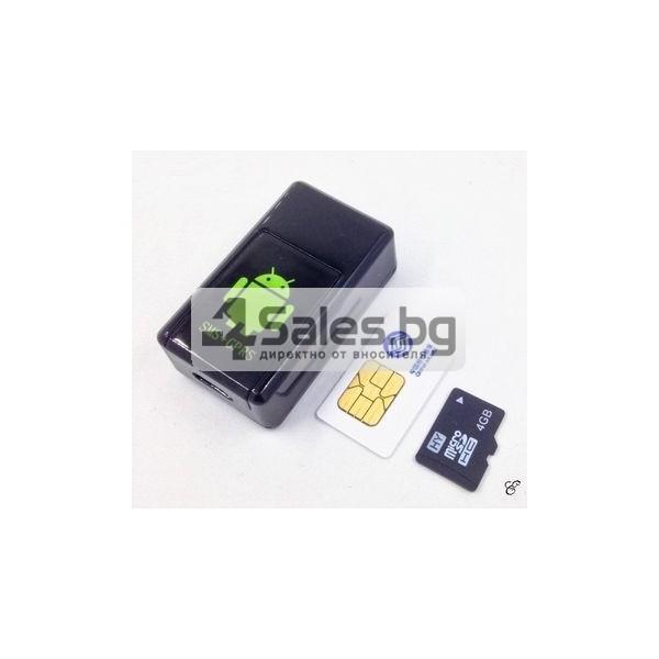 Мини тракер за подслушване и проследяване с GPS, Sim карта и камера GF08 4