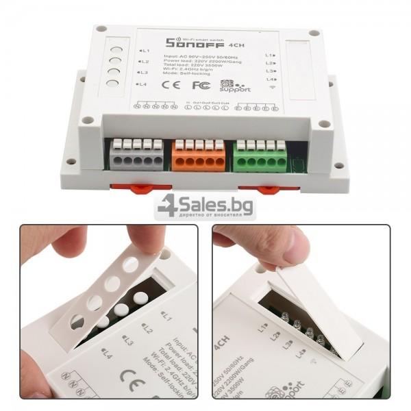 Sonoff четириканален интелигентен превключвател с Wi-Fi 7