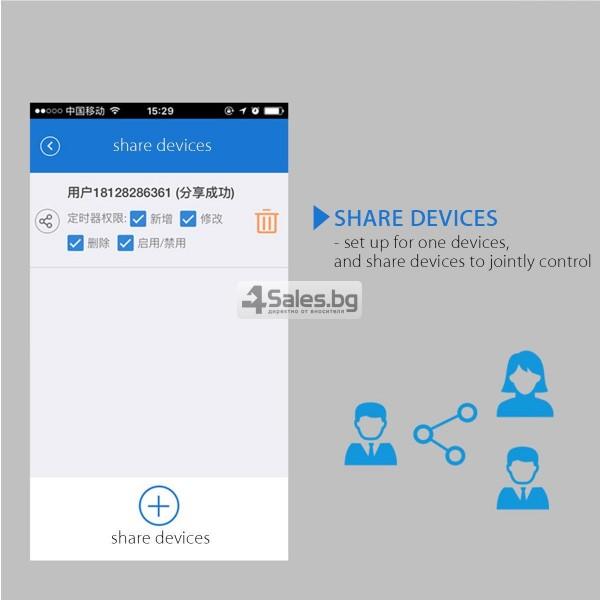 WiFi превключвател за контрол със смартфон 6