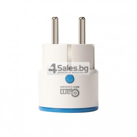 Двуканален превключвател за стена за контрол на светлината