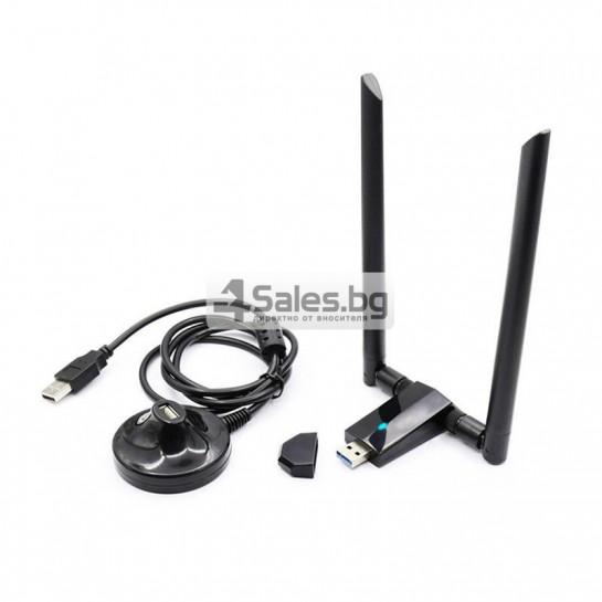 Супер високоскоростен миниатюрен USB Wi-Fi приемник и адаптер