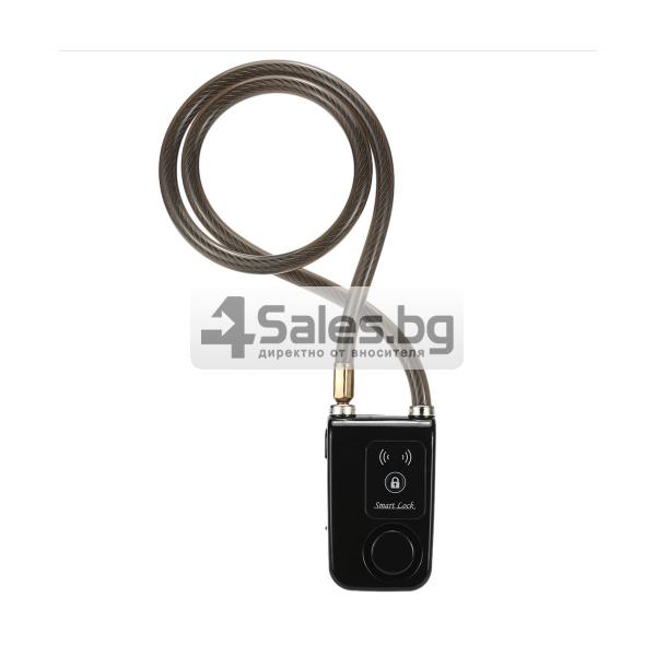 Интелигентно заключване за колело или мотор с аларма и Bluetooth