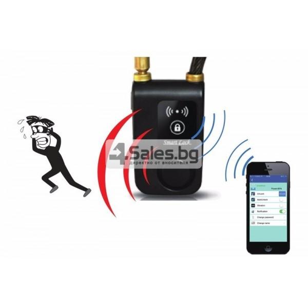 Интелигентно заключване за колело или мотор с аларма и Bluetooth 3