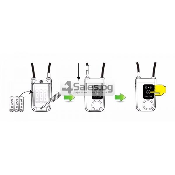 Интелигентно заключване за колело или мотор с аларма и Bluetooth 7
