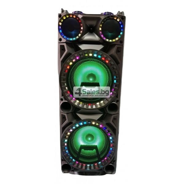 Мощна тонколона за караоке с DJ пулт и цветомузика CH6213