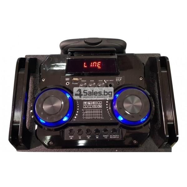 Професионална тонколона с Bluetooth, микрофон, пулт и цветомузика CH6212 5