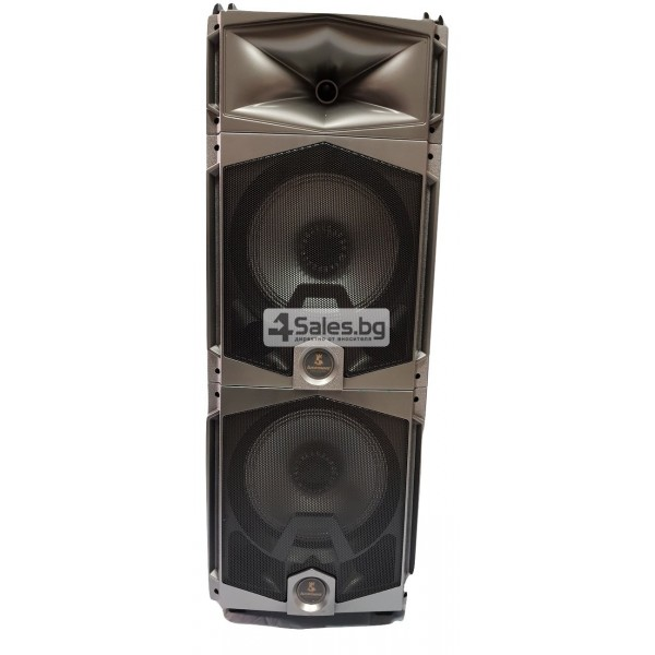 Професионална тонколона с Bluetooth, микрофон, пулт и цветомузика CH6212 6