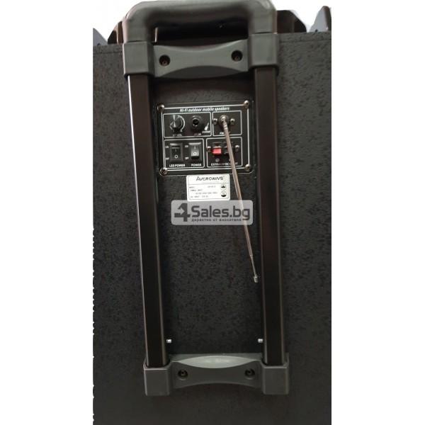 Професионална тонколона с Bluetooth, микрофон, пулт и цветомузика CH6212 7