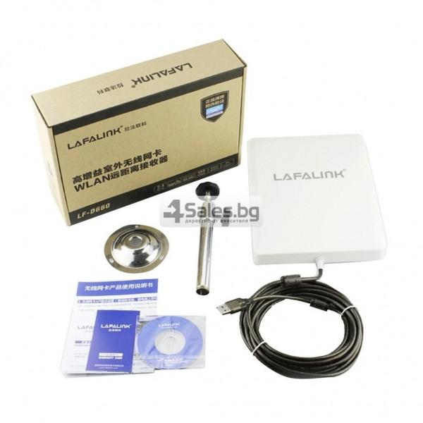 Мощен и бърз WI FI адаптер Lafalink-D660 с USB кабел WF21 5