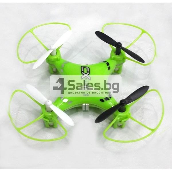 Мини квадрокоптер CX021 с 3D превъртания, полет на обратно и LED светлини 2