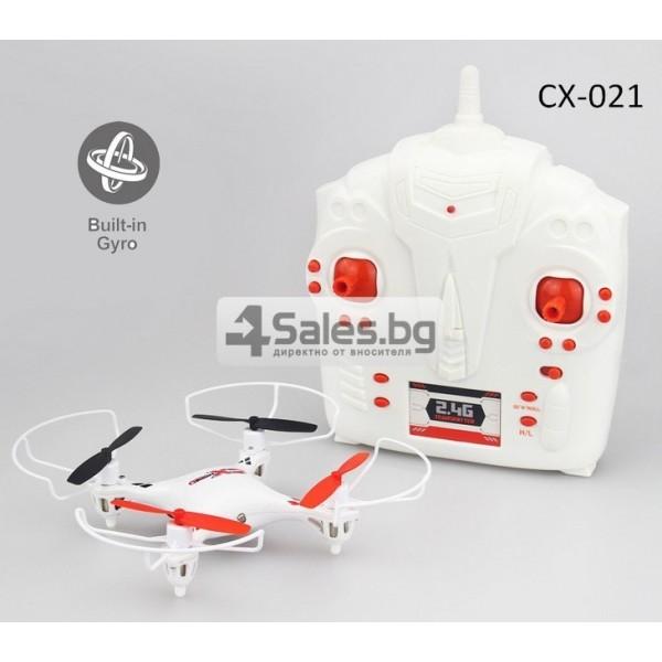 Мини квадрокоптер CX021 с 3D превъртания, полет на обратно и LED светлини 4