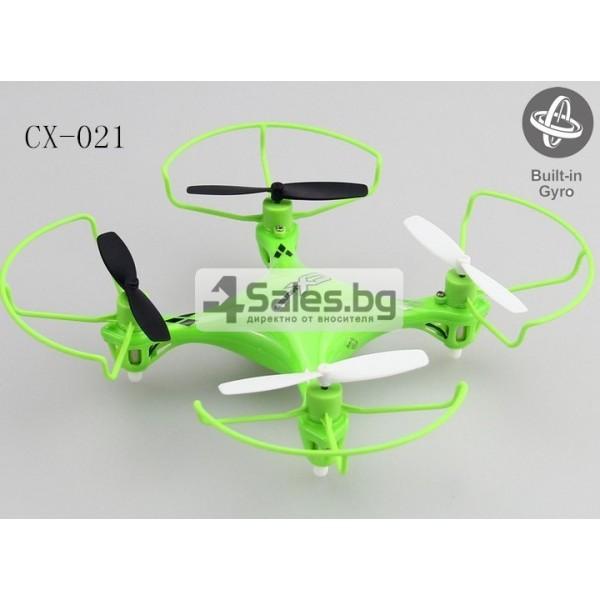 Мини квадрокоптер CX021 с 3D превъртания, полет на обратно и LED светлини 5