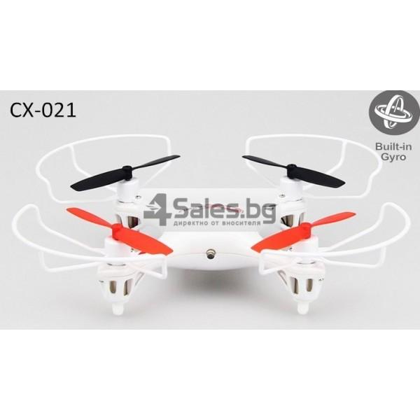 Мини квадрокоптер CX021 с 3D превъртания, полет на обратно и LED светлини 6