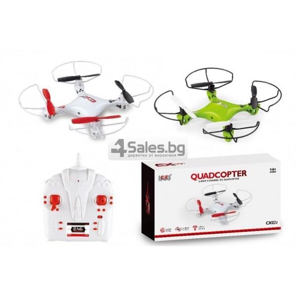 Мини квадрокоптер CX021 с 3D превъртания, полет на обратно и LED светлини 7