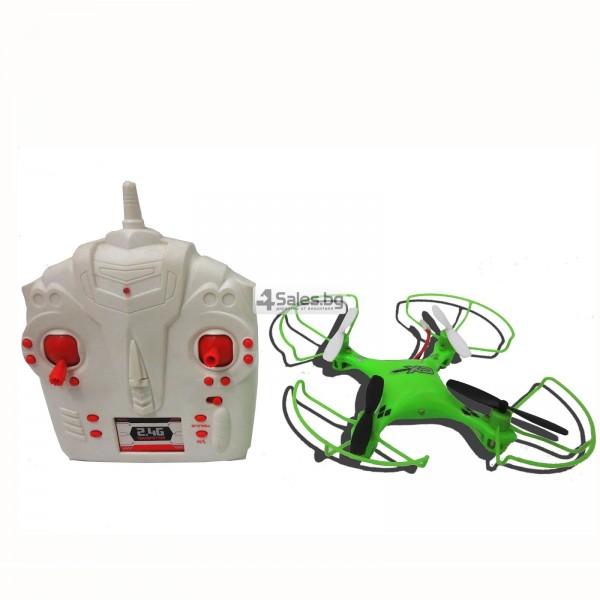 Мини квадрокоптер CX021 с 3D превъртания, полет на обратно и LED светлини 9