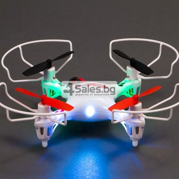 Мини квадрокоптер CX021 с 3D превъртания, полет на обратно и LED светлини 10
