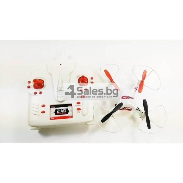 Мини квадрокоптер CX021 с 3D превъртания, полет на обратно и LED светлини 11