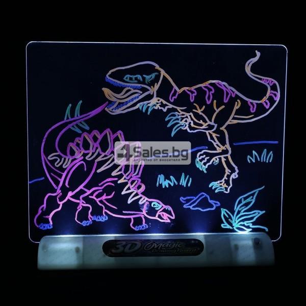Магическа 3D дъска за рисуване със светлини и цветни маркери TV106 4