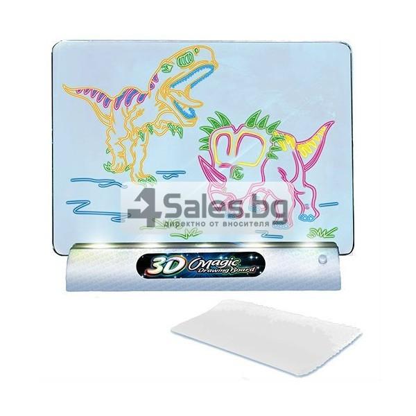 Магическа 3D дъска за рисуване със светлини и цветни маркери TV106 8