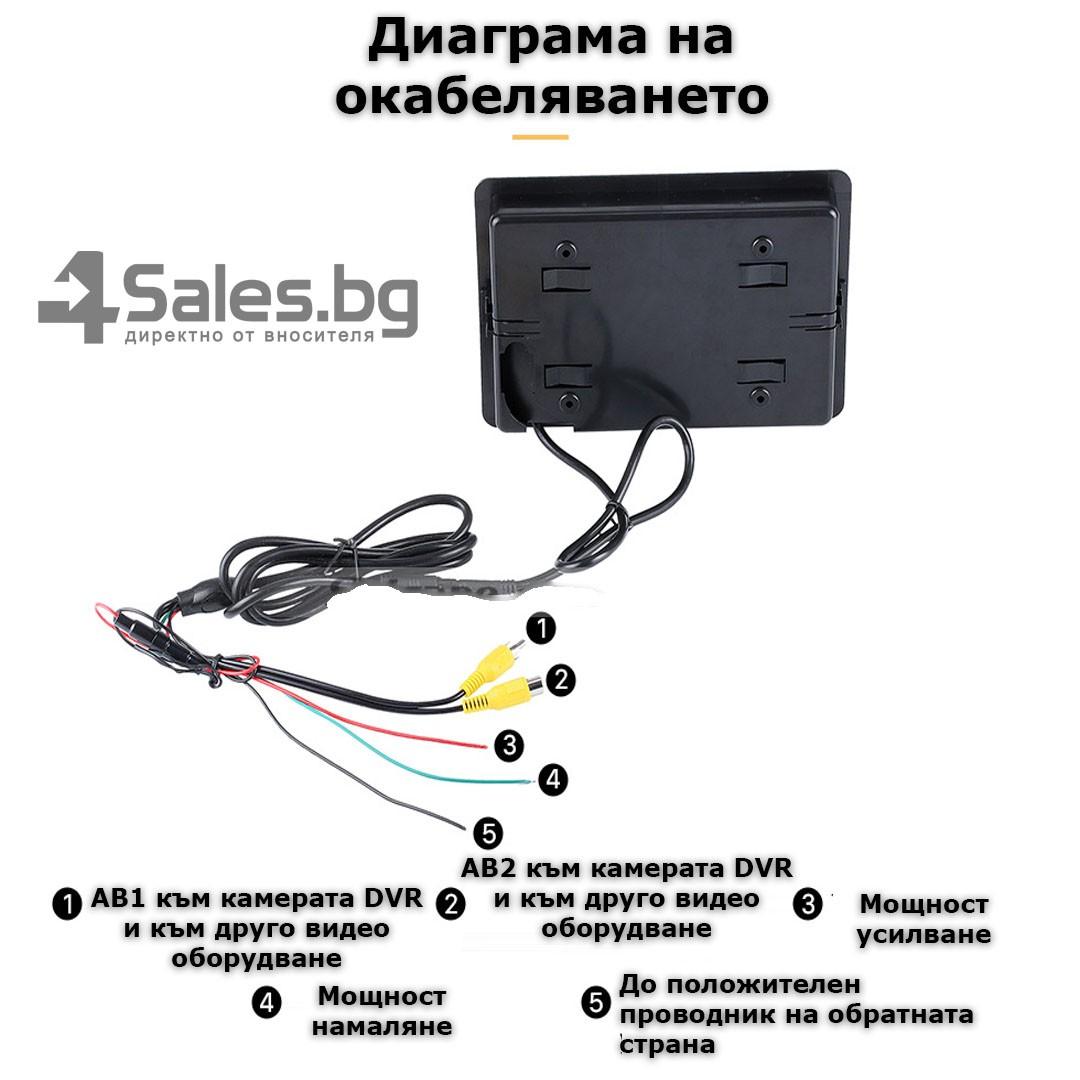 Монитор за кола с 7 инча LCD дисплей, HD 800 x 480 p и 2 AV изхода PK LCD2 14