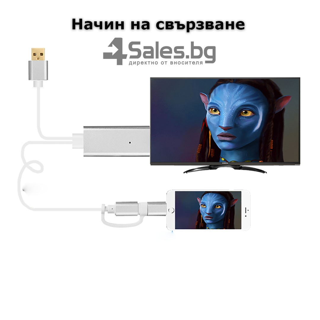 A5-14 Адаптер от Iphone към HDTV CA97 16