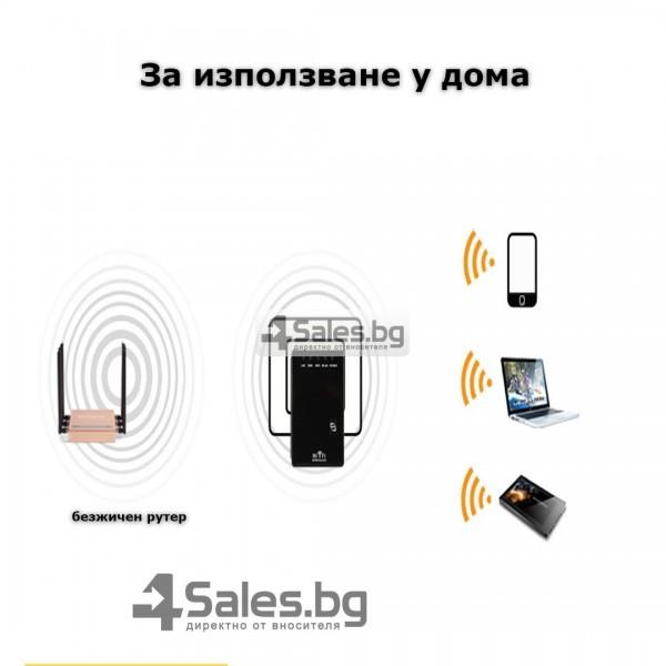 Ретранслатор рутер и усилвател за Wi-Fi с два LAN порта WF12 12