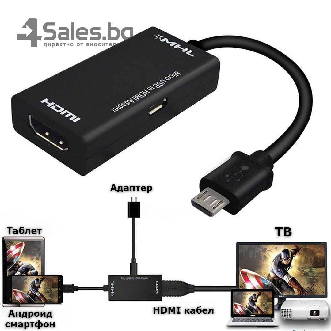 Преходник JianHan Micro USB към HDMI MHL, CA55 8