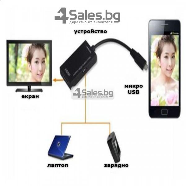 Преходник JianHan Micro USB към HDMI MHL, CA55 13