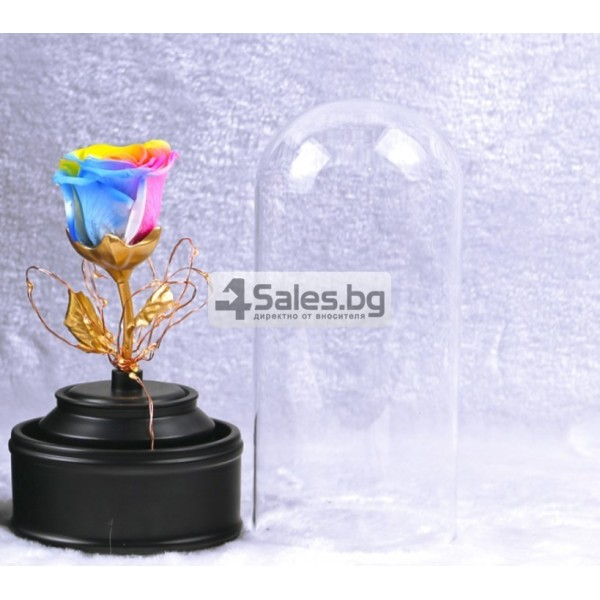 Вълшебна неувяхваща роза в стъкленица с LED светлина YSH J