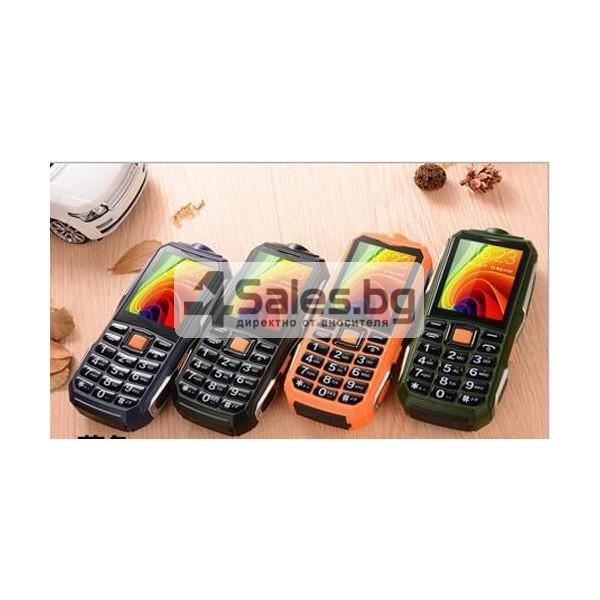 Противоударен телефон-фенер с Power Bank батерия, 2 SIM карти ОЕМ C9 2