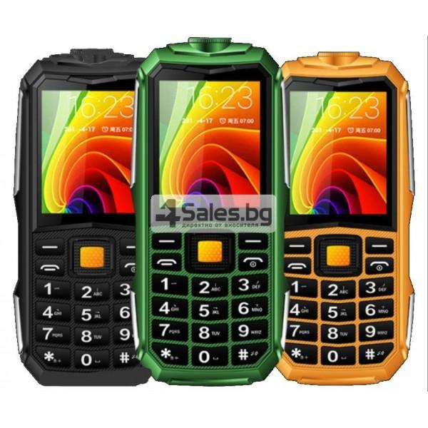 Противоударен телефон-фенер с Power Bank батерия, 2 SIM карти ОЕМ C9