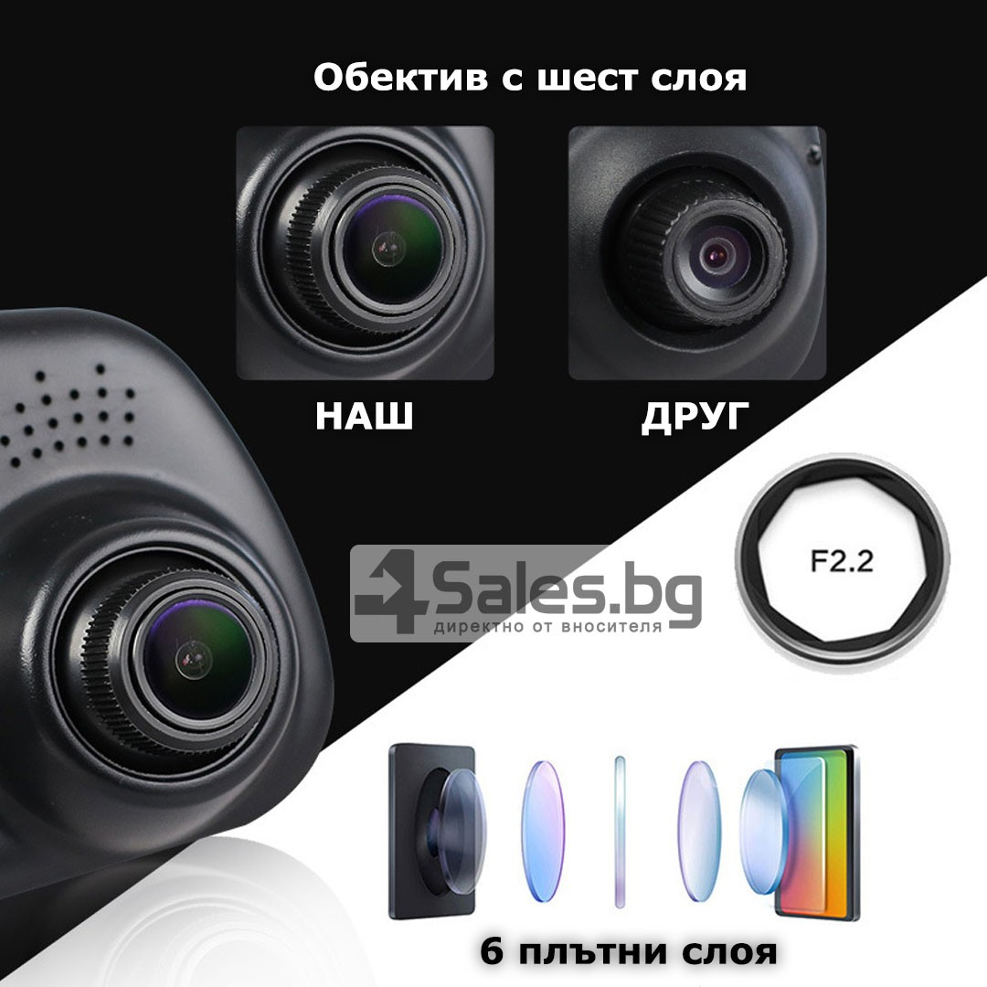 Видеорегистратор тип огледало за задно виждане DVR JPG 1080 P -8Mpx AC25 20