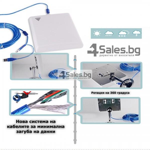Мощен и бърз WI FI адаптер Lafalink-D660 с USB кабел WF21 12
