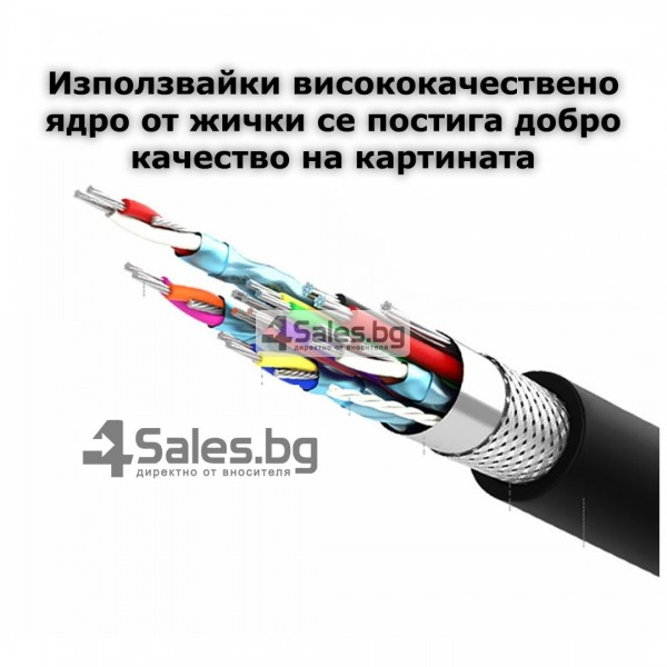 USB Type-C към HDMI кабел, 1,8m, Позлатен CA78 16