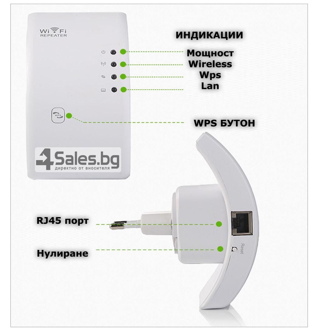 Безжичен рутер - ретранслатор на Wi-Fi сигнал 300Mbps WF3 13