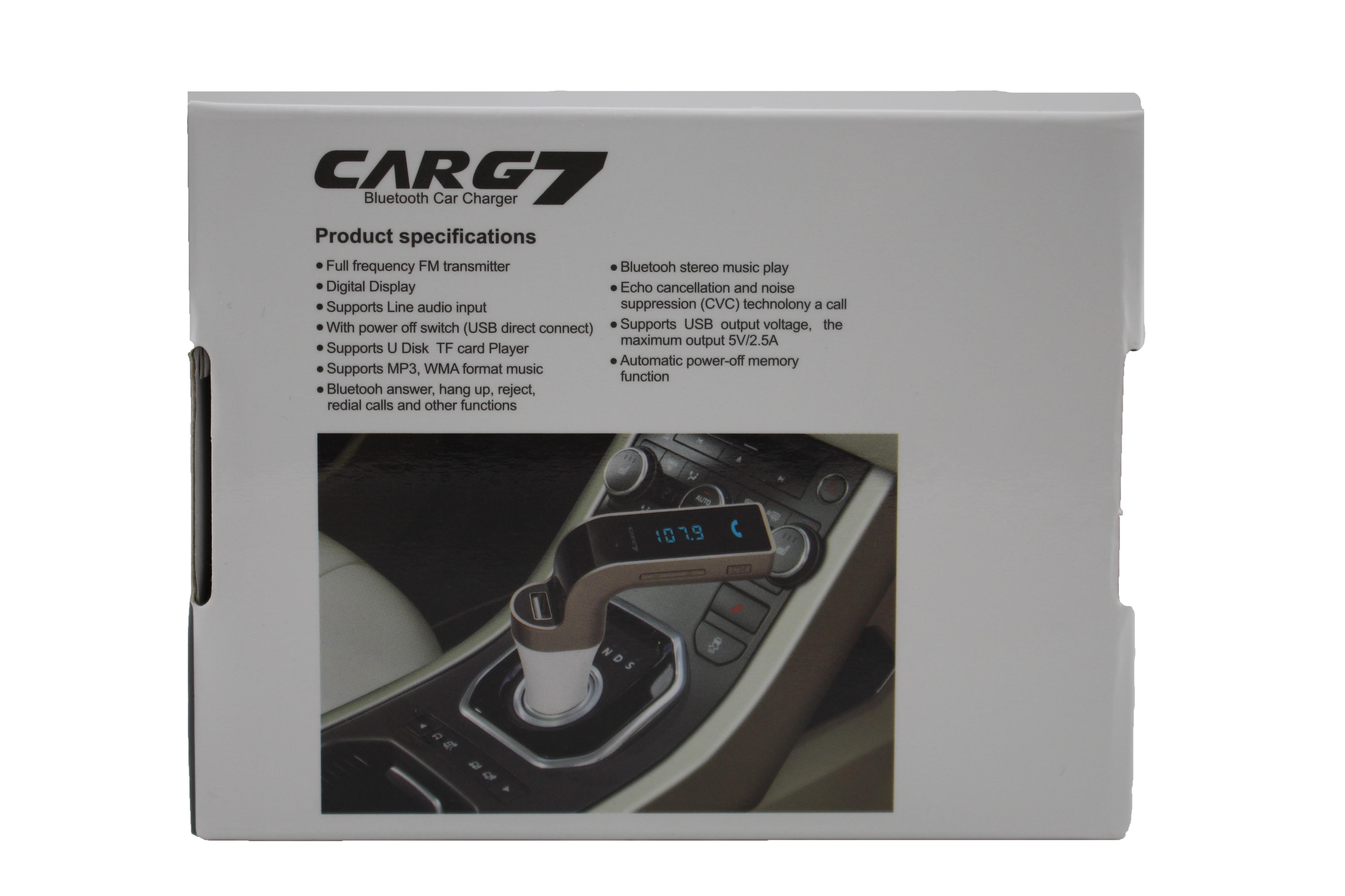 Фм трансмитер за кола 4 в 1 G7 + AUX ( FM, MP3 player, USB hands free) HF3 17