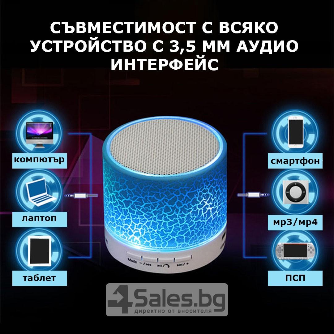 Блутут колонка за телефон портативна A9 съвместима с таблети смартфони и лаптопи 38
