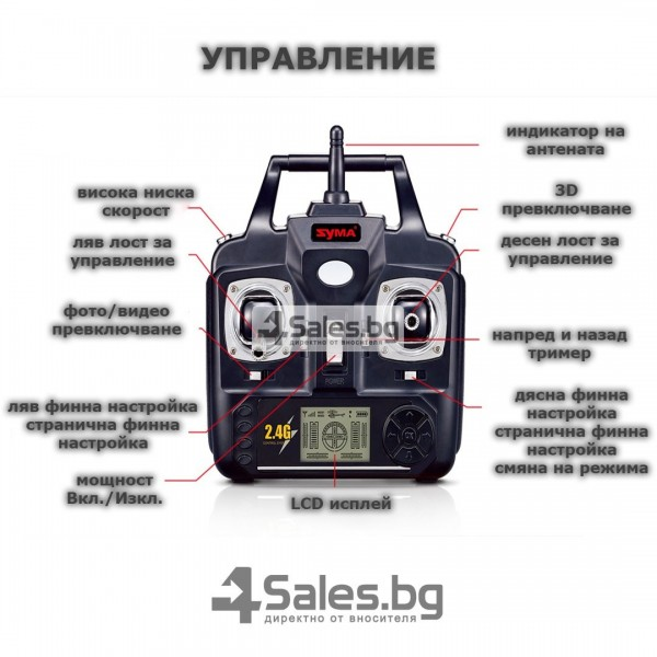 Квадрокоптер Syma X5C-1 Explorers 2.4GHz радиоконтрол 4CH 650mAh 32