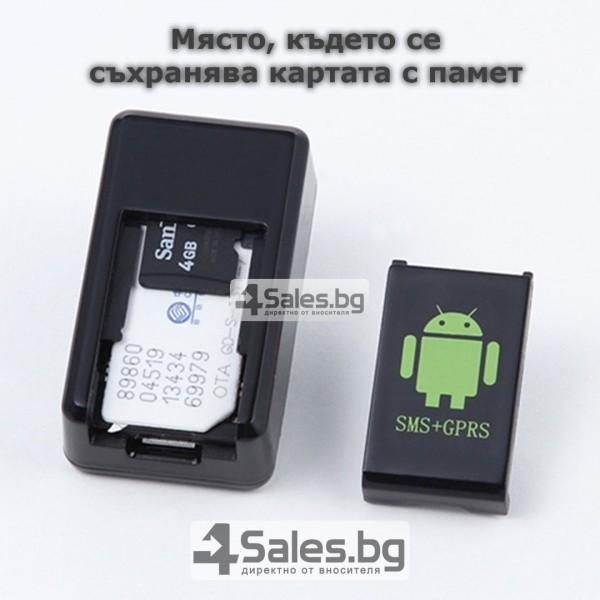 Мини тракер за подслушване и проследяване с GPS, Sim карта и камера GF08 7