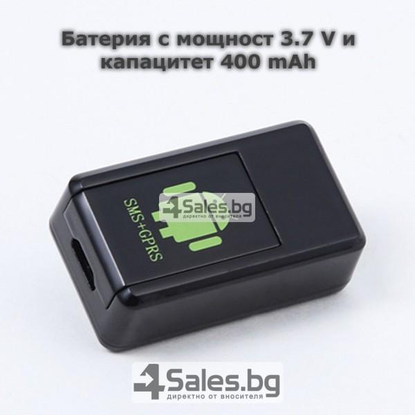 Мини тракер за подслушване и проследяване с GPS, Sim карта и камера GF08 10