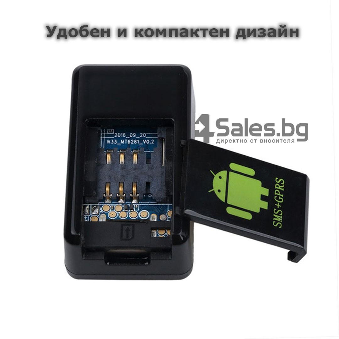 Мини тракер за подслушване и проследяване с GPS, Sim карта и камера GF08 12