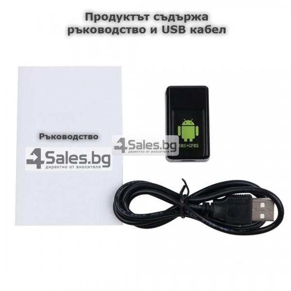 Мини тракер за подслушване и проследяване с GPS, Sim карта и камера GF08 14