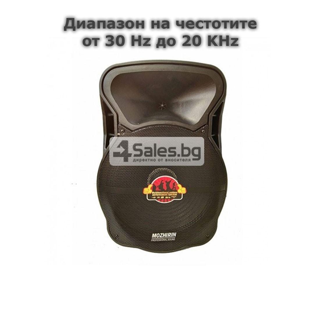 Тонколона Mozhirin SA8600-6 - 15 инча с 2 микрофона и цветомузика 11