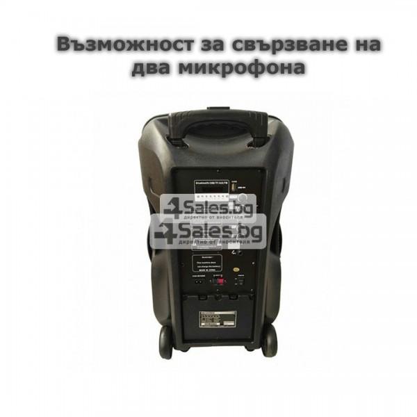 Тонколона Mozhirin SA8600-6 - 15 инча с 2 микрофона и цветомузика 13